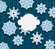 节假日设计的冬天看板卡 免版税库存图片