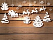 节假日设计的新年度看板卡 免版税库存照片