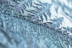 细节冰冷在窗口 免版税库存照片
