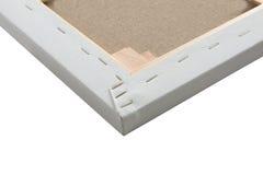 画廊细节包裹了在木制框架的空白的帆布 图库摄影