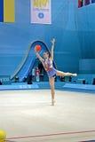 节奏体操世界冠军在基辅,乌克兰, 库存图片