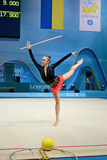 节奏体操世界冠军,基辅,乌克兰, 免版税库存图片