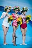 节奏体操世界冠军 免版税图库摄影