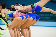 节奏体操世界冠军 免版税库存图片