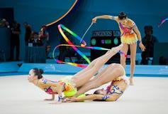 节奏体操世界冠军 图库摄影