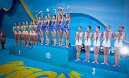 节奏体操世界冠军 库存照片