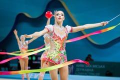 节奏体操世界冠军 免版税库存照片