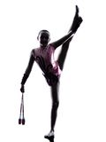 节奏体操小女孩孩子 免版税库存照片