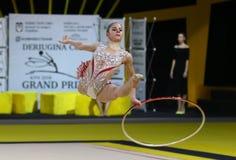 节奏体操格兰披治Deriugina杯在Kyiv,乌克兰 免版税库存照片