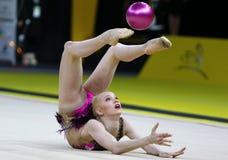 节奏体操格兰披治Deriugina杯在Kyiv,乌克兰 库存照片