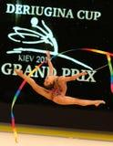 节奏体操格兰披治在基辅,乌克兰 免版税库存照片