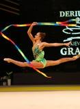 节奏体操格兰披治在基辅,乌克兰 库存照片