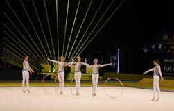 节奏体操格兰披治在基辅,乌克兰 图库摄影