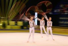 节奏体操格兰披治在基辅,乌克兰 免版税库存图片