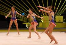 节奏体操格兰披治在基辅,乌克兰 免版税图库摄影