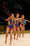 节奏体操格兰披治在基辅,乌克兰 库存图片
