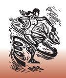 节奏性体操运动员图画  库存图片