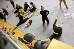 节奏性的体操 免版税图库摄影