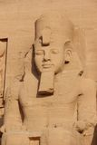 细节寺庙Rameses II abu埃及simbel 库存照片