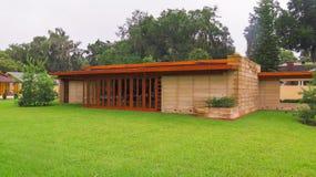 细节弗兰克・劳埃德・赖特湖水地区学院南部的佛罗里达 免版税库存图片