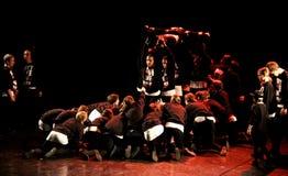 节律唱诵的音乐舞蹈家表现 库存照片