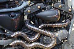 细节摩托车,扭转的尾气 免版税库存图片
