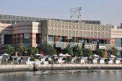 节日中心江边在迪拜,阿拉伯联合酋长国 免版税库存照片