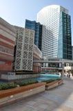 节日中心江边在迪拜,阿拉伯联合酋长国 库存照片