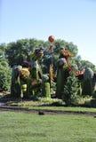 节日从公园雅克・卡蒂埃的MosaiCanada 150从安大略省的加蒂诺 图库摄影