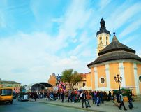 节日在卡梅涅茨波多尔斯基,乌克兰 库存照片