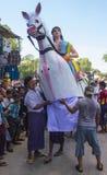节日在bagan缅甸附近的一个村庄 库存照片