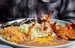 节日墨西哥盛肉盘 库存图片