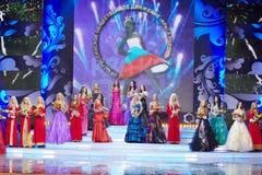 节日天分和俄国的秀丽秀丽的参与者- 2011年 免版税图库摄影