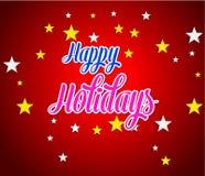 节日快乐假日设计、党海报、贺卡、横幅或者邀请的例证 免版税库存照片