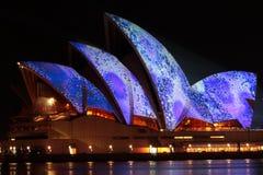 节日房子歌剧生动的悉尼 库存图片