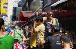 节日新的泰国年 免版税库存照片