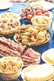 节日晚会宴餐肉饥饿美味 库存照片