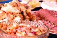 节日晚会宴餐肉饥饿美味 库存图片