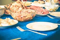 节日晚会宴餐肉饥饿美味 免版税库存图片