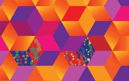 节日橙色和紫罗兰色几何背景 库存例证