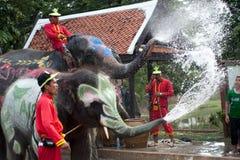 节日泰国水 免版税库存图片
