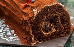 节日滚动的蛋糕 库存图片