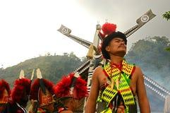 节日犀鸟印度nagaland 库存照片