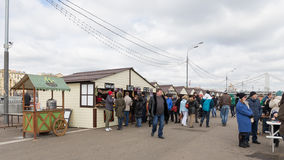 节日狂欢节的人们,莫斯科 免版税库存图片