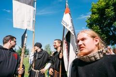 节日的战士参加者中世纪 库存图片