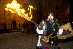 节日耶路撒冷骑士 免版税库存照片