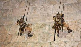 节日耶路撒冷骑士 免版税图库摄影