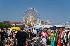 节日跳蚤市场慕尼黑春天 免版税库存照片