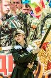 节日音乐会以纪念胜利天在世界大战2中可以9日2016年在卡卢加州地区在俄罗斯 免版税库存图片