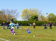 节日风筝参与者 库存图片